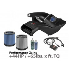 aFe - Momentum GT Aluminum Black Cold Air Intake System with Pro 5R Blue Filter and Scorcher GT Module