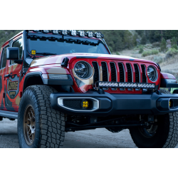 Jeep JL/JT Dual LP4 Auxiliary Light Kit w/Upfitter Baja Designs