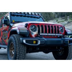 Jeep JL/JT Dual LP6 Auxiliary Light Kit w/Upfitter Baja Designs