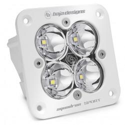 Flush Mount LED Light Pod White Clear Lens Work/Scene Pattern Squadron Sport Baja Designs