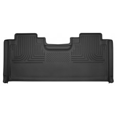 Husky 2017 FORD F-150 X-ACT CONTOUR® RUBBER FLOOR MATS - Crew Cab - Rear - Full Coverage