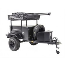 Scout Trailer Kit for Off Grid Overlanding No Wheels and Tires Black Smittybilt